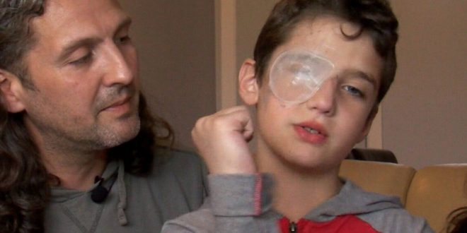 10-year-old boy stabbed in eye with pencil at school