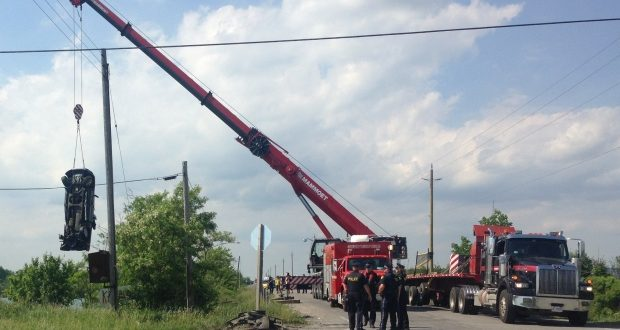 26-year-old man dies after truck crashes; sinks into quarry