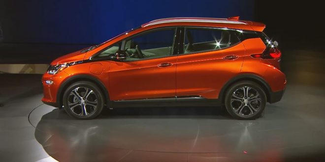 2017 Chevrolet Bolt EV electric car to enter production in October (Video)