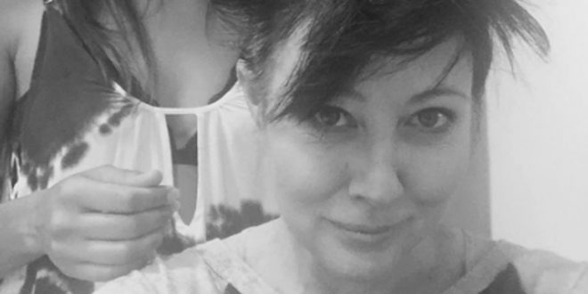 Shannen Doherty shaves head amid cancer battle (Photo)