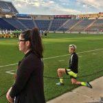Megan Rapinoe: US soccer star Kneels For Anthem at NWSL Match