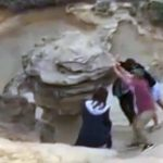 Suspects wanted after destroying iconic rock formation (Video)
