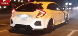 "2017 Honda Civic Type R busted in California ""Video"""