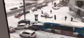 Montreal bus crunch video goes viral (Watch)