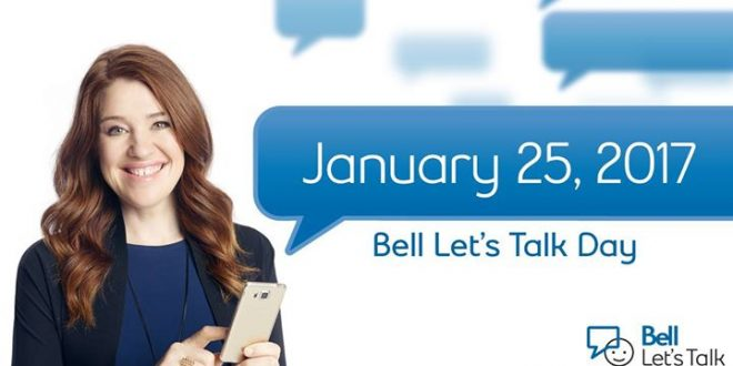 Bell Let's Talk Day is on January 25, 2017.