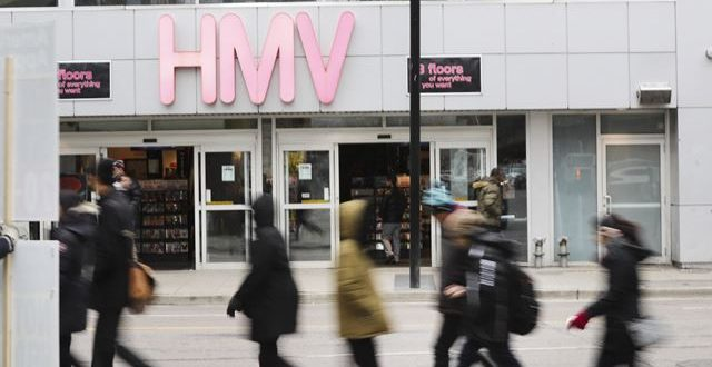 HMV Canada to Shut Down All Stores