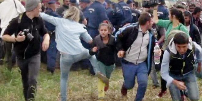 Petra Laszlo: Hungarian camerawoman sentenced for tripping refugees