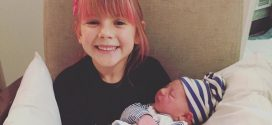 Pink Posts Adorable Photo Of Willow Holding Jameson