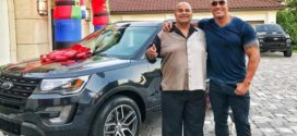 The Rock surprises dad with car for Christmas