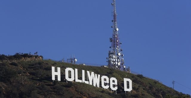 Vandalized Hollywood sign now reads 'Hollyweed' (Photo)