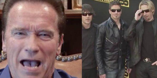 Arnold Schwarzenegger, Nickelback bicker on Twitter about who's worse
