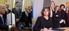 Isabella Lovin: Swedish deputy PM mocks Trump with all-female photo