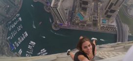 Russian model dangles off Dubai skyscraper for photo shoot (Video)