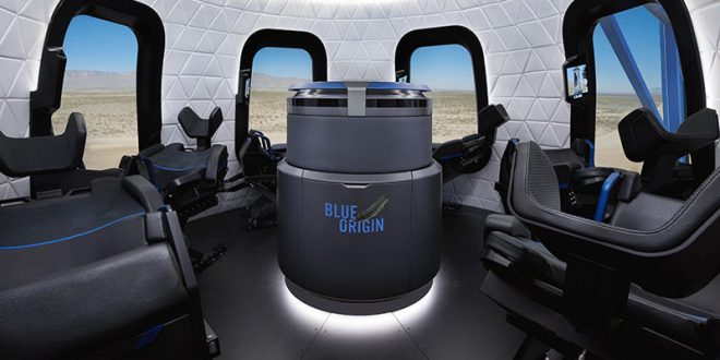 Blue Origin shows off launch vehicle capsule (Photo)