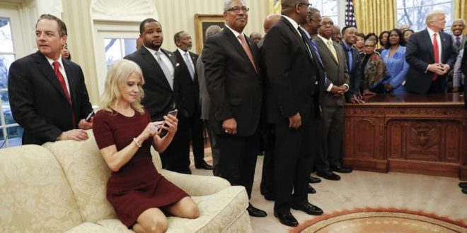 Kellyanne Conway Under Fire for Oval Office Couch Photo (Watch)
