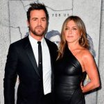 Justin Theroux And Jennifer Aniston arrive at Leftovers premiere