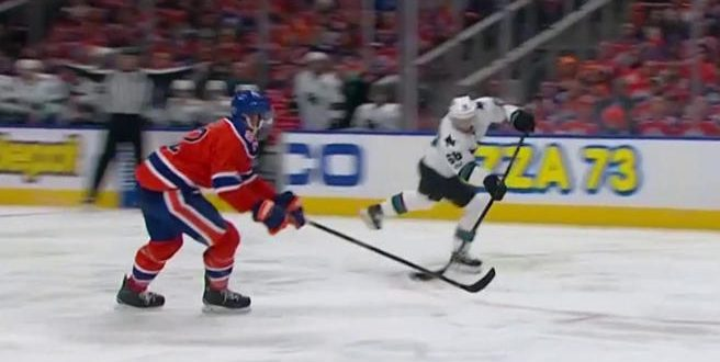 San Jose Sharks beat ‪Edmonton Oilers 3-2 in overtime in Game 1
