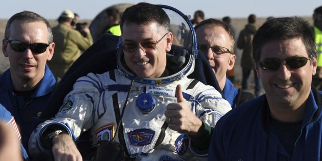 Three International Space Station crew members return to Earth