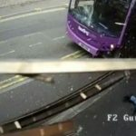 UK man gets hit by bus, gets up and walks into bar (Video)
