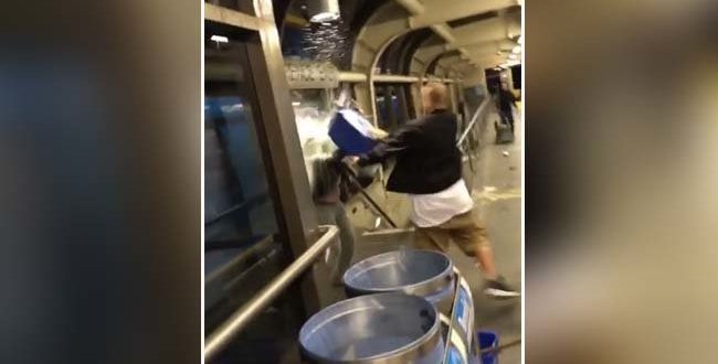 Bucket of water dumped over TTC rider (Video)