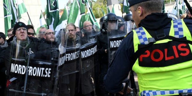 Fifty arrests during a march of neo-nazi in Sweden