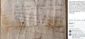 Message in a bottle: Georgia couple discovers message dated Sept. 26, 1988