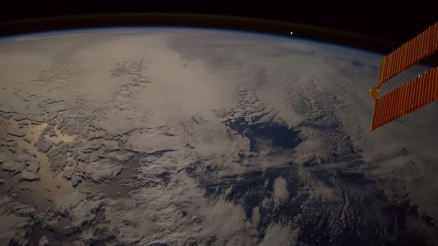 Astronaut luckily captures meteor falling to Earth aboard ...