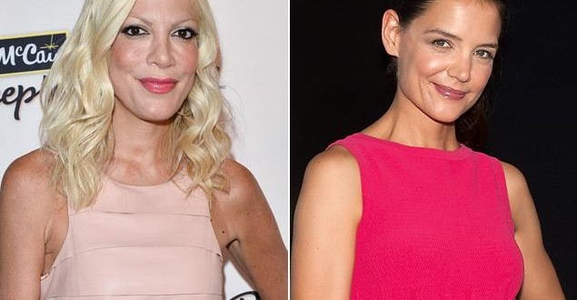 Tori spelling calls katie holmes is 'plastic', 'can't sing'
