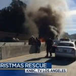 Man Saved From Burning car on 405 Freeway