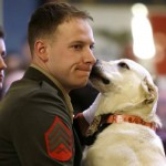 Sargent Ross Gundlach reunited with bomb sniffing dog
