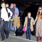 David and Victoria Beckham : Boys' Night in London