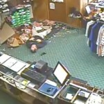 Man Falls Through Ceiling Of Golf Store (VIDEO)