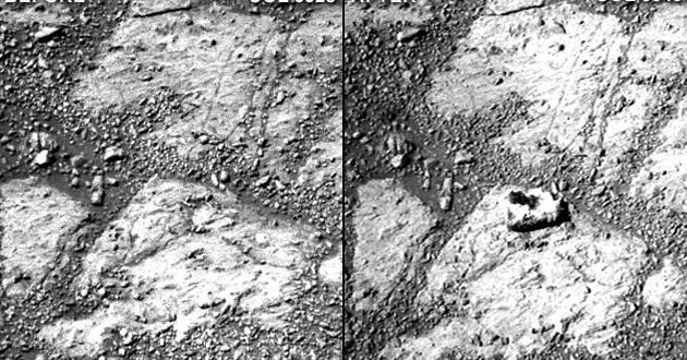 Mystery Mars Rock Appears Near Opportunity Rover