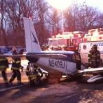 Small plane lands on Major Deegan Expressway