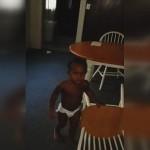 Swearing toddler taken into protective custody