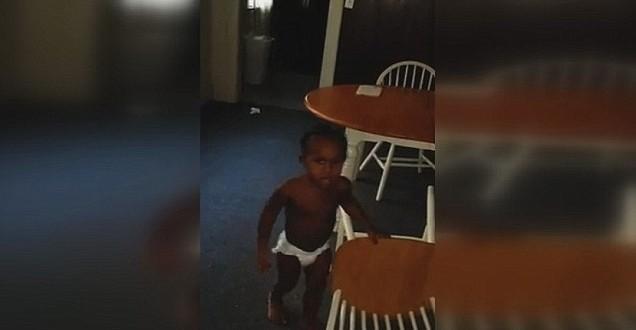 Swearing toddler taken into protective custody (VIDEO)