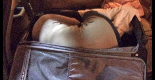 Thai woman found in suitcase at US border (PHOTO)