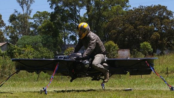 This Hoverbike Is Basically a Giant Quadcopter Drone (Video)