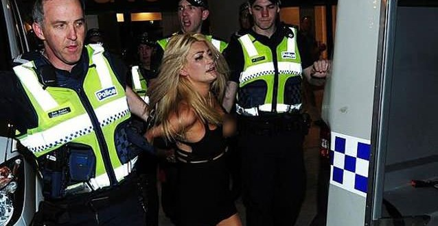 Heather McCartney charged over nude romp at AFL Grand Final (Photo)
