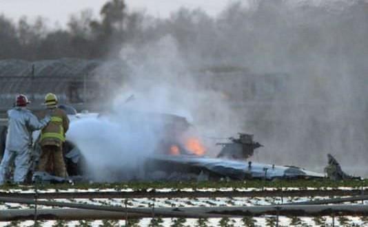 Military jet crashes near California base, 1 dead
