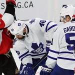 NHL : Maple Leafs - Senators fan brawl caught on video (Watch)