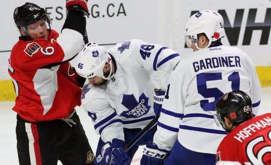 NHL : Maple Leafs – Senators fan brawl caught on video (Watch)
