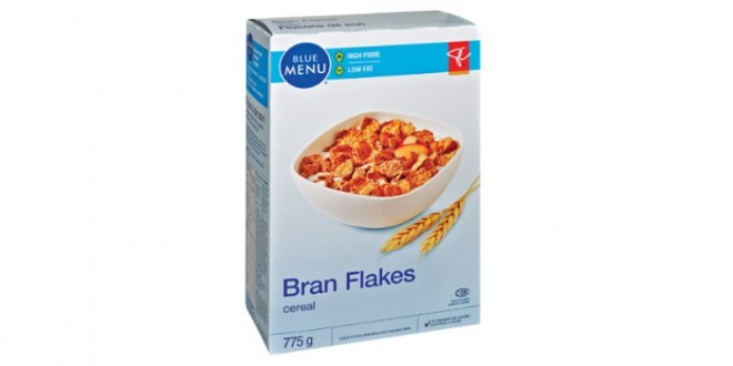 Loblaws recalls PC Blue Menu bran flakes, Report