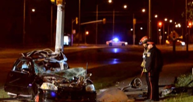 One dead, One in hospital, in Brampton single vehicle collision