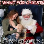 Rebecca Dunbar gets backlash for breastfeeding baby on Santa's lap