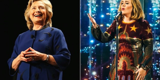 Hillary Clinton: Adele 'my Go-to Voice'