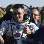 Three International Space Station crew members return to Earth
