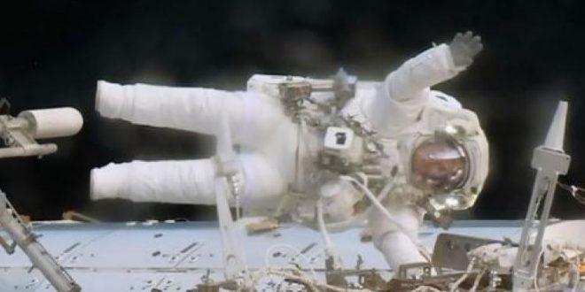 NASA astronauts replace computer during spacewalk