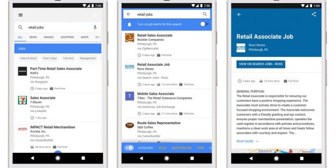 Google now shows job postings in its search results, Report