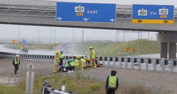 Man killed in single vehicle crash on Highway 407